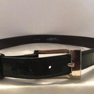 Dolce & Gabbana leather black belt
